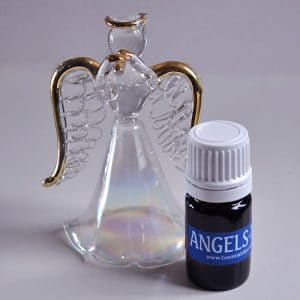 AngelsTouch™ essential oils blend with glass angel
