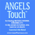 angels touch™ essential oils label icon