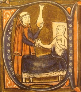 al-razlin a persian physician treating a patient with essential oils