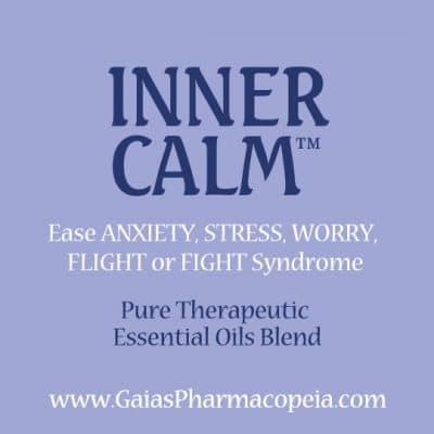 icon for inner-calm essential oil blend to ease anxiety, stress, worry, to calm flight or fight syndrome