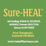 Sure-HEAL essential oil blend for surgical wound care