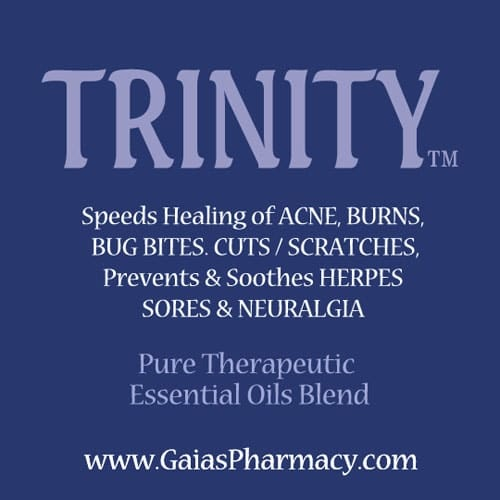 Trinity essential oil blend for mouth sores, herpes lesions, cuts, acne and more