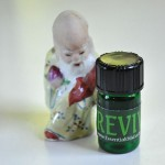 Bottle of REVIVE™ essential oils blend for surgical incisions, wounds, reducing scar tissue | Photo Copyright © Cynthe Brush www.gaiaspharmacopeia.com www.gaiaspharmacy.com