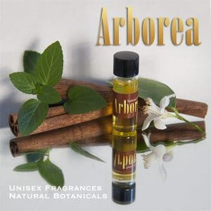 Arborea™ natural botanical unisex fragrance oil sampler bottle | Photo Copyright © Cynthe Brush www.essentialoilsforhealing.com www.gaiaspharmacopeia.com www.gaiaspharmacy.com