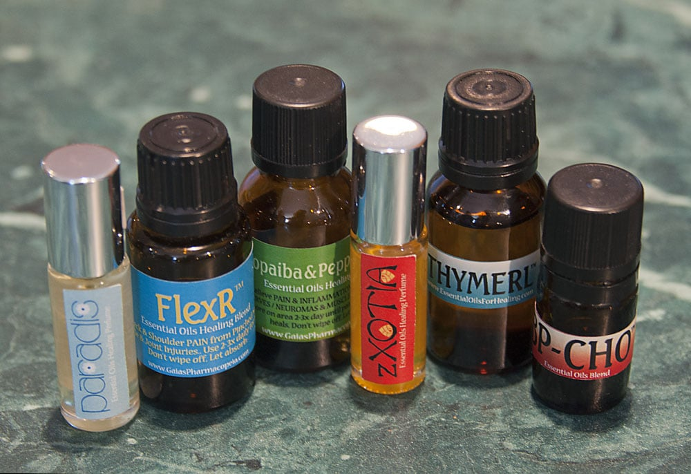 gaias pharmacopeia essential oil blends product sampling