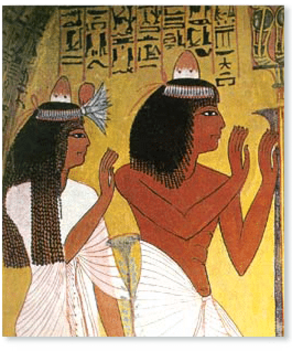 egyptian essential oil scented hair cones